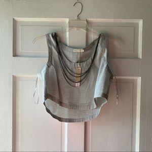 Makers Of Dreams Grey Vest/ Top